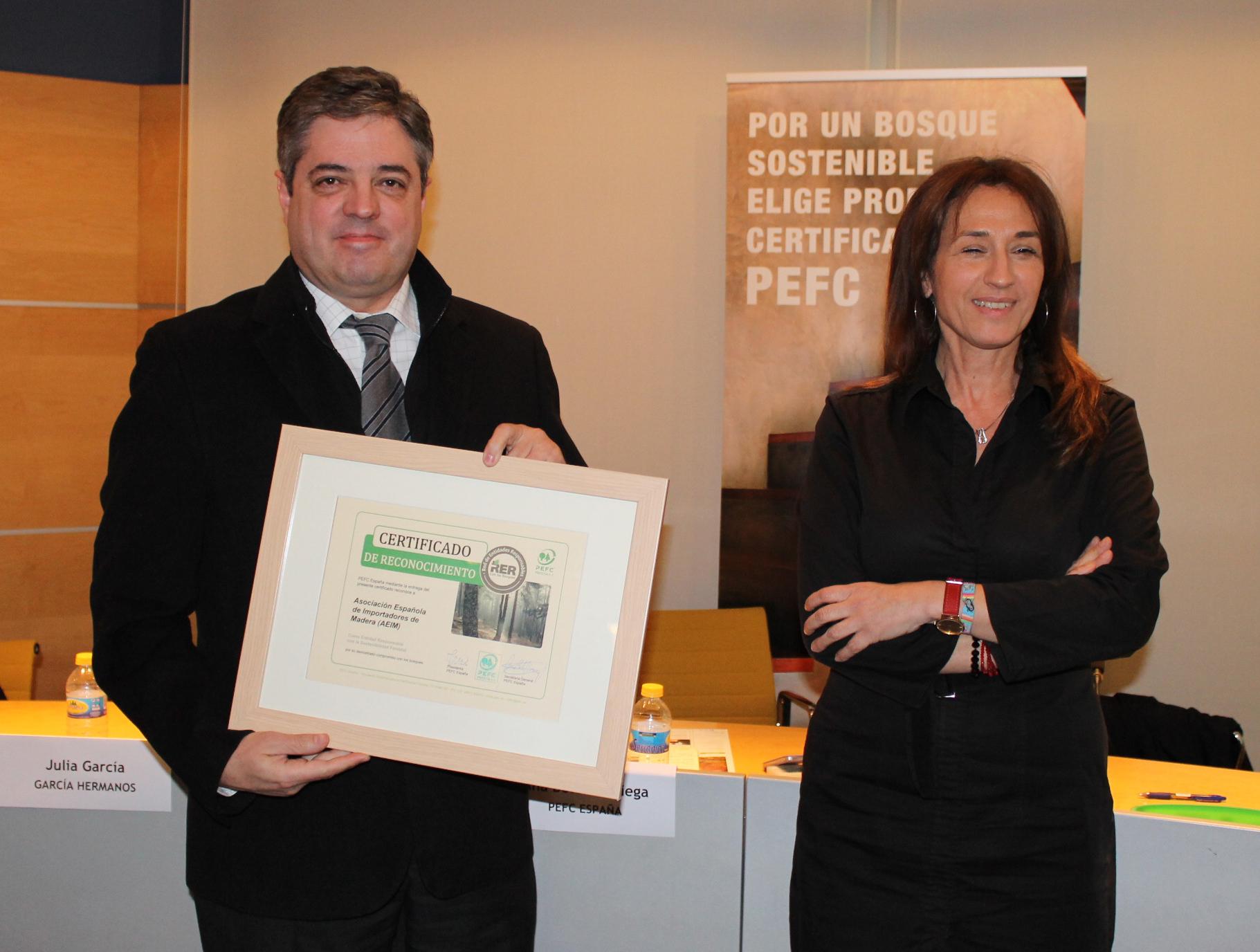 AEIM recibe el reconocimiento a su trayectoria en la sostenibilidad de los bosques