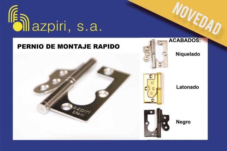 Nuevo pernio de acero de Azpiri sin mecanizado