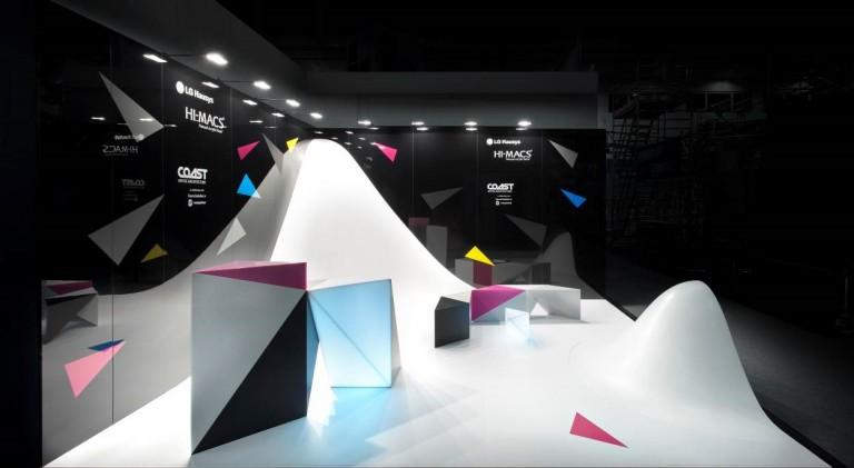 HI-MACS® y Gabarró presentan en Maderalia un stand en tres dimensiones