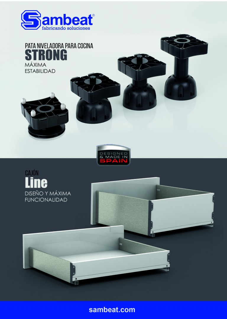 Nuevo cajón 'Line' y pata 'Strong' de Sambeat