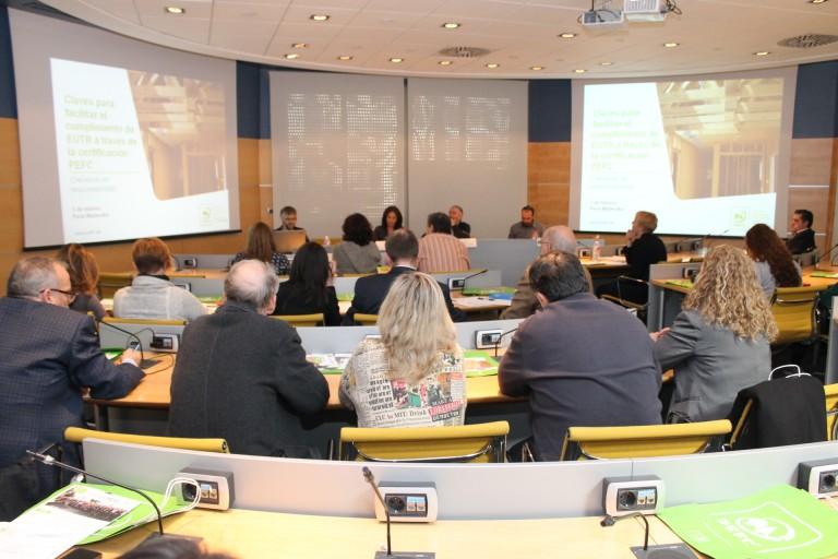 PEFC presenta en MADERALIA las claves para el cumplimiento de la EUTR