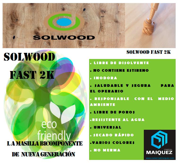 Comercial Máizquez presenta la masilla de nueva generación SOLWOOD FAST 2K