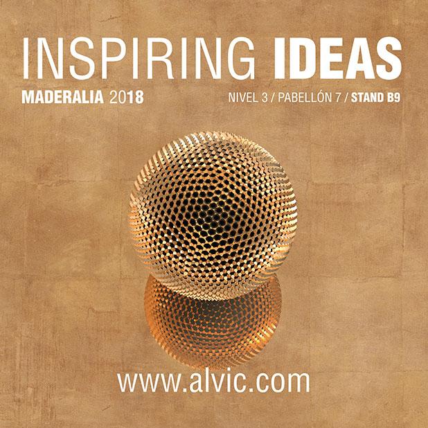 ALVIC presentará en Maderalia las nuevas propuestas para el catálogo 2018/2019