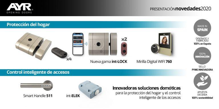 AYR presenta en primicia innovadoras soluciones domóticas para la protección del hogar y el control inteligente de los accesos