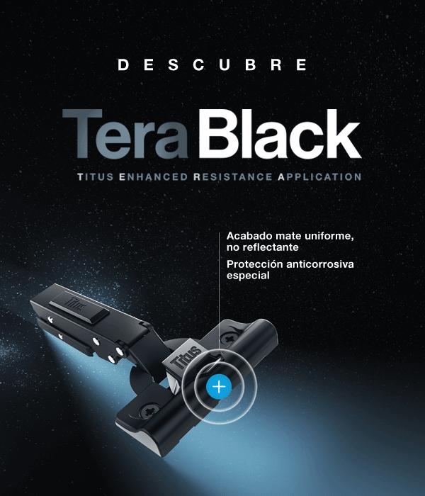 TITUS lanza la gama de herrajes para muebles TeraBlack en Maderalia 2020