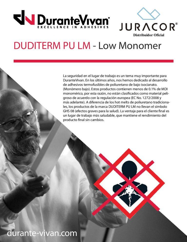 Nueva gama de adhesivos DUDITERM PU LM en el stand de JURACOR