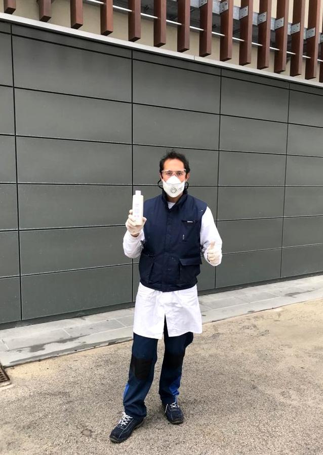 ICA GROUP aporta gel desinfectante en la lucha contra el COVID19